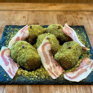 Polpette-cavallo-guanciale-pistacchio tostato-Salice Group
